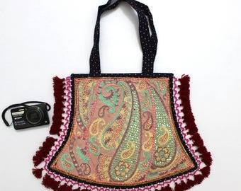 Handmade Ethnic Designer Tribal Banjara Patchwork Embroidered Hippy Fashionable Stylish Trendy Hippie Gypsy Boho Bohemian Fancy Bag G274
