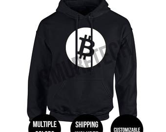 BITCOIN Pullover Hoodie (Shipping included! Multiple color options available)
