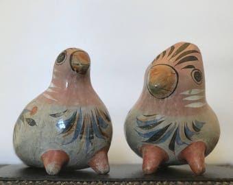 Set of (2) Tonala Mexican Folk Art Birds