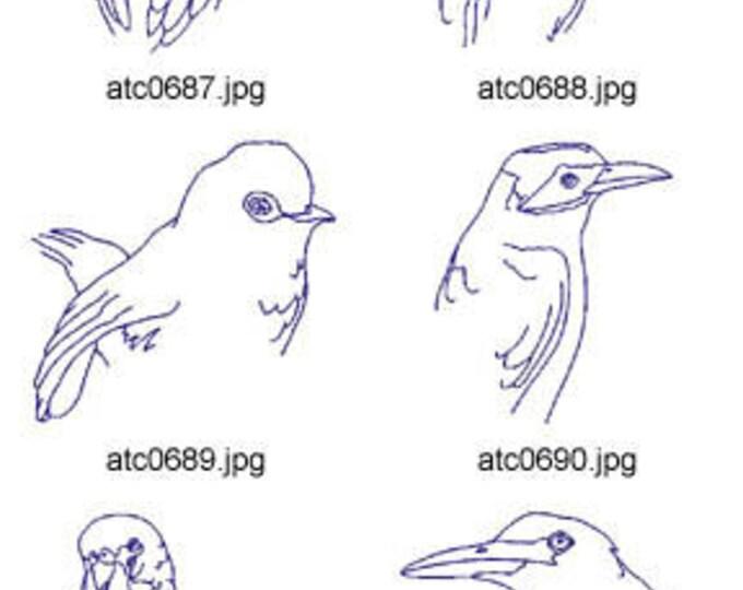 Bluework-Birds ( 10 Machine Embroidery Designs from ATW ) XYZ17F