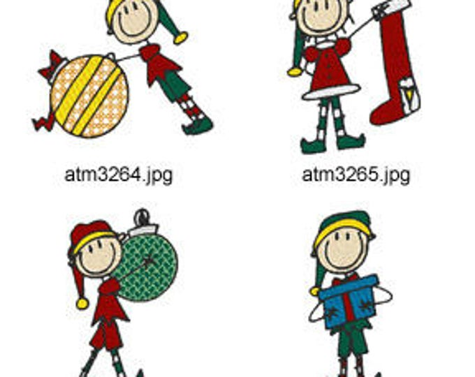 A-Kids-View-Elves ( 7 Machine Embroidery Designs from ATW ) XYZ17M