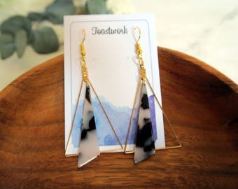 earrings, gold plated Earrings,personalised,Bridesmaid Jewelry,Bohemian,Hippie,drop earrings,gift for her, dangle earrings,handmade,triangle