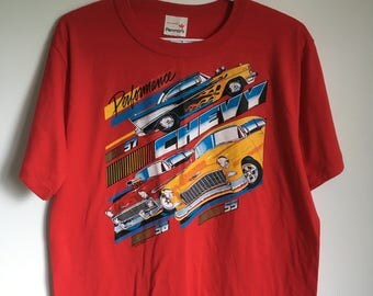 "Vintage ""Performance Chevy"" Men's L T-Shirt - 1987"