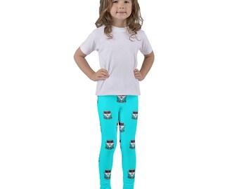 VW Kids Leggings, VW Camper Van Pants, Toddler Car Leggings, Car Lover Kid, Turquoise Volkswagen Bus, Unisex Kids Clothing, Gymnastic Pants