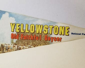Yellowstone National Park - Vintage Pennant