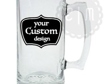 26.5 oz. Glass beer mug