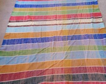 Moroccan Bed Sheet, Vintage Flat Bed Sheet, Queen Bed Size, 1 Flat Sheet, African Fabric, Moroccan Fabric