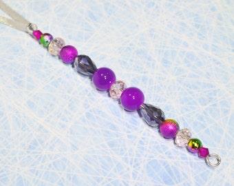 Beaded icicle decoration, Christmas decoration, Christmas ornament, purple Christmas decoration