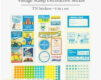 Traveller's Decorative Vintage Sticker - TN Sticker