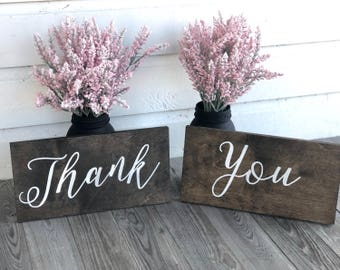 Wedding Thank You Sign - Rustic Wood Wedding Sign - Wedding Signs - Thank You Card Sign - Woodsy Wedding