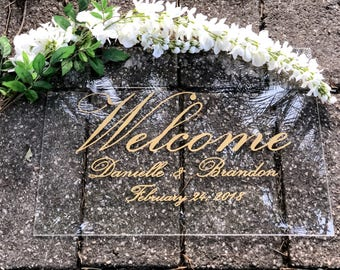 Acrylic Wedding Welcome Sign - Wedding Signs - Welcome To Our Wedding Sign - Custom Wedding Signs - Modern Wedding Sign - Vintage Wedding Si