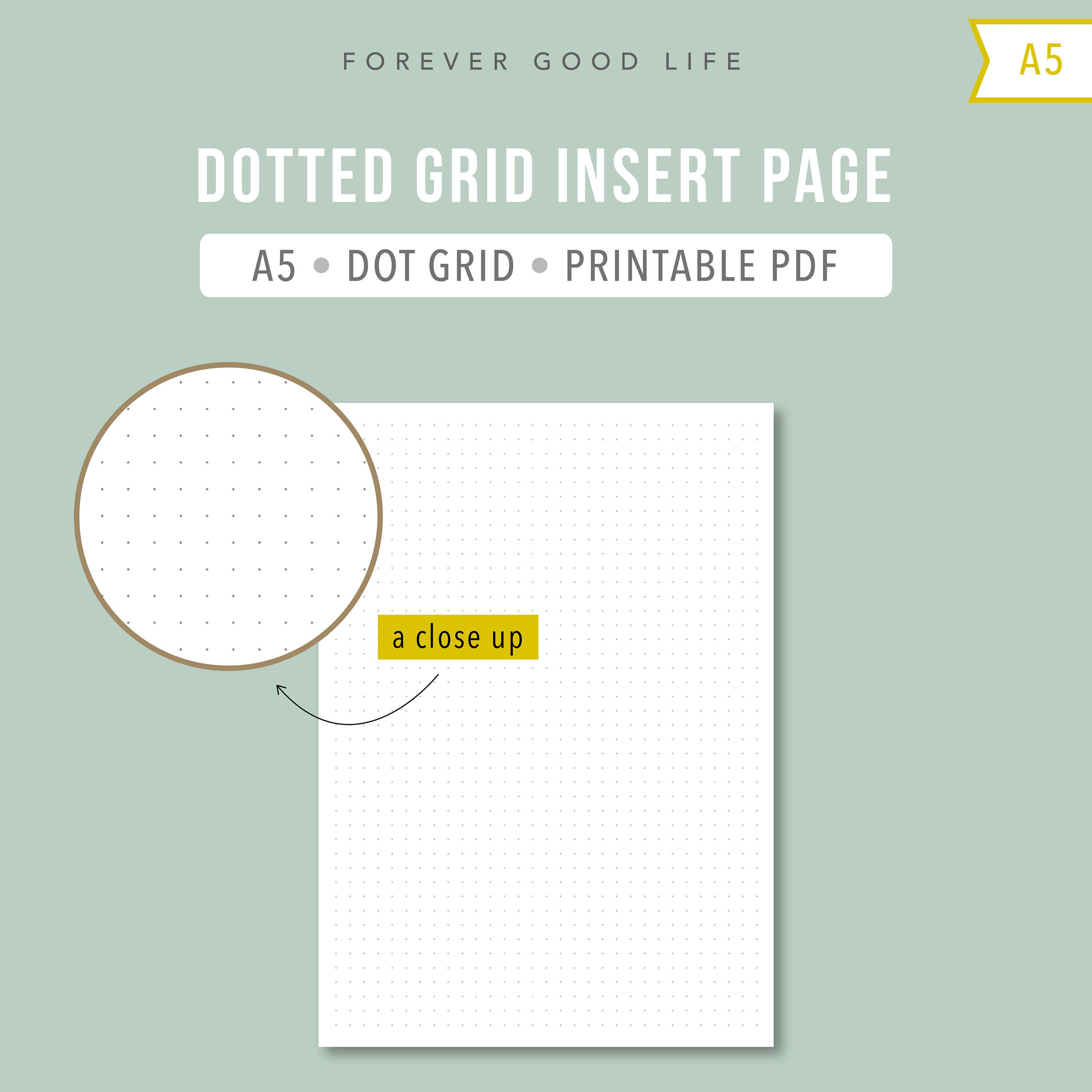 This is an image of Divine Dot Grid Printable