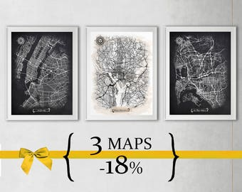 3 maps with 18% Discount {Special Discount Offer} Just select size and style!