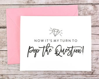 Now It's My Turn to Pop the Question Card, Funny Bridesmaid Card, Bridesmaid Proposal, Will You Be My Bridesmaid - (FPS0057)