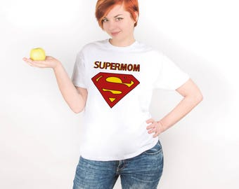 Supermom Shirt Mom Tee Superpower Shirt Gift for Mom Superhero Shirt Super Mom Shirt Shirt for Mom Mothers Day Gift Supermom Tee PA1035