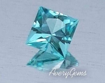 Tourmaline Neon Blue Green  0.35 Ct Rare Loose Gemstone Natural Ror Tourmaline Ring Precious Gemstone Precision Cut By AveryGems
