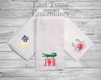 Personalized Burp Cloths for Boys - Monogrammed Burp Cloths - Baby Shower Gift for Boys - Preppy Baby Boy Gifts - Preppy Burp Cloth for Boys