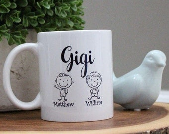 Gigi Personalized Custom Coffee Mug Cup Quick Shipping