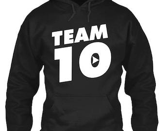 Team 10 Hooded Sweatshirt. Team 10 Sweatshirt. Jake Paul Sweatshirt. Team 10 Hoodie YOUTH SIZES AVAILABLE