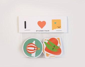 Albuquerque Stickers / ABQ Stickers / Burque Stickers / Albuquerque / I Heart Albuquerque / ABQ Gifts / Albuquerque Gifts / Cactus Sticker