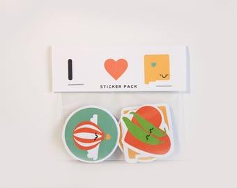 New Mexico Stickers / ABQ Stickers / Burque Stickers / New Mexico / I Heart Albuquerque / ABQ Gifts / Albuquerque Gifts / Cactus Sticker