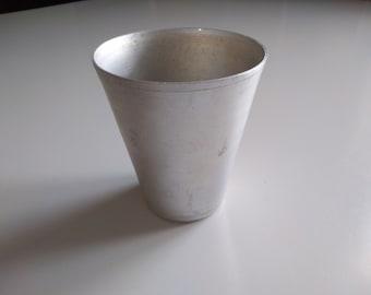 Vintage Aluminium Beaker - 300 ml