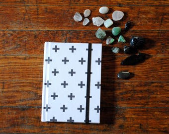 Minimalist Black and White Hardcover Sketchbook, Notebook, Journal