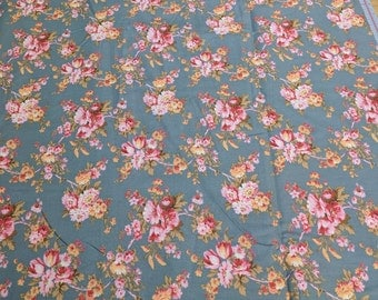 Verna Mosquera Rustic Blush-Blossom Time, Steel for Free Spirit Fabric