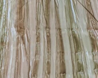Aurora Batiks-Brown and Green Stripes Cotton Batik Fabric from Moda Fabrics