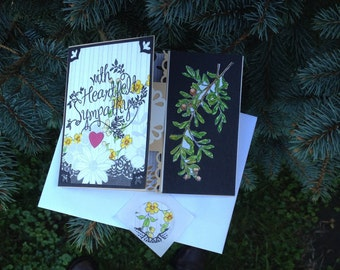 Sympathy Card, Tri-fold Sympathy Card, All Occasion Card Sympathy, In Sympathy Greeting Card, Homemade Sympathy, Open Heart Stampin Up