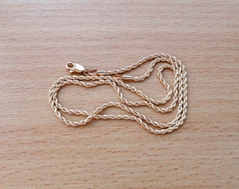 Gold rope chain necklace long gold chain necklace rope jewelry chain 18K gold plated men women gift classic chain
