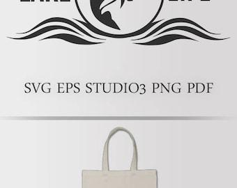 LAKE LIFE SVG. Cutting file for Silhouette, Cricut. Fishing svg, lake clipart, lake life design, tshirt design, cameo file, cricut file