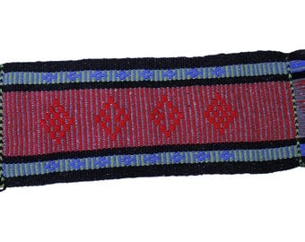 Mapuche weave (Red, grey, blue, black, green)