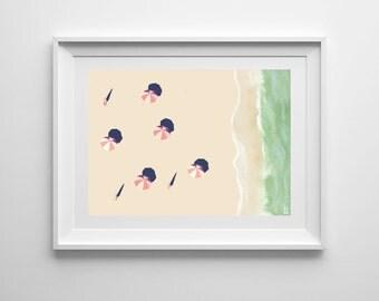Beach Daze Fine Art Print