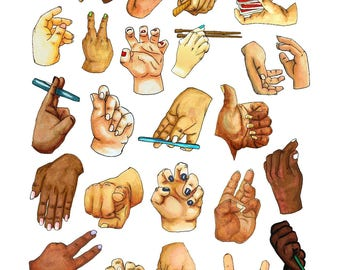 Printable Hand Stickers