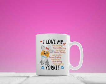 Yorkie Mug, I Love My Yorkie Coffee Mug, Yorkie Gift, Yorkshire Terrier Lover,Yorkie Coffee Cup,Yorkie Mom,Gift For Yorkshire Terrier Lovers