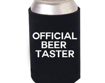 Official Beer Taster Cozie, Funny Beer Cozie, Beer, I Love Beer, Beer Can Cooler, Beer Bottle Cooler, Beer can cozie, craft beer