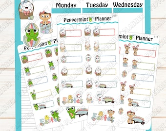 Jelly Bean, Widget, or Lilly Pad Easter Planner Stickers --- 709 - 711