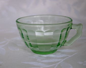 Block Optic Green Teacup