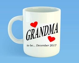 Grandparents Mug - Pregnancy Reveal - Grandma Mug - Grandpa Mug - New Grandparents - Baby Announcement - Custom Mug - Grandparent Gift - Mug