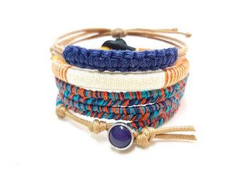 Boho Wife Gift, Gypsy Bracelet, Bohemian Stack Bracelet Set, Boho Stacking Bangle Bracelets, Bohochic Jewelry, Festival Style Jewelry