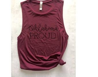 Oklahoma tshirt etsy for Custom t shirts okc