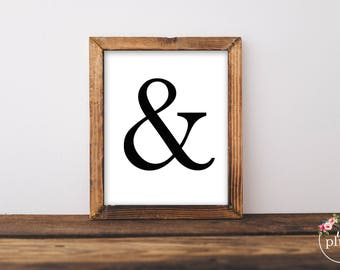 An & Symbol Printable- Instant Download