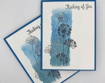 Miss You Card - Thinking of You Card - Just Because Card - Sympathy Card - Long Distance Card - Watercolor Flower Card - Floral Card