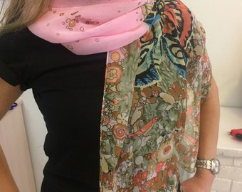 Butterfly Pink Scarf