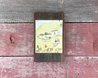 Looking-for-Something | 1952 | Peace by Piece Reclaimed Wood Children's Book Illustration Wall Art | Ecuador Art | Reclaimed Wood Wall Art