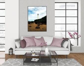 Castlepoint Lighthouse | World Travel New Zealand Nature Landscape Beach Lighthouse Photography, Fine Art, Wall Art, Home Decor Print