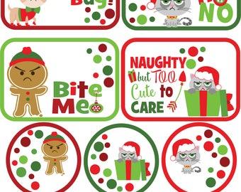 Printable Bah Humbug,Christmas,Holiday Gift Tags,Funny Gift Tags,Funny Christmas,Gift Tag,Gift Tags,Bah Humbug,Bah humbug gift tags,Instant