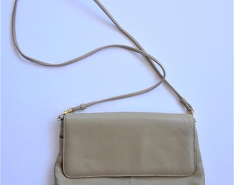 MARLO Handbags & Accessories Genuine Leather Taupe or Camel Crossbody Bag - Like New