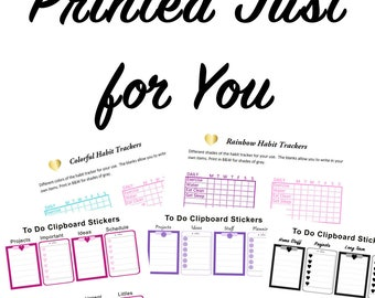 5 sets of Preprinted Printable Add-ons | Stickers | Planner Printable | Happy Planner Sticker | Printed | Pre-printed